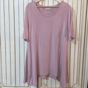 LOGO Lounge Pink French Terry Knit Top XL